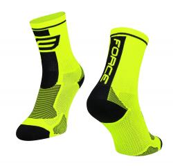 Ponožky force long fluo / ciernem  XL